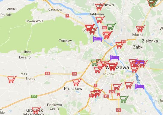 Mapa wêdkarskich wpisów premium