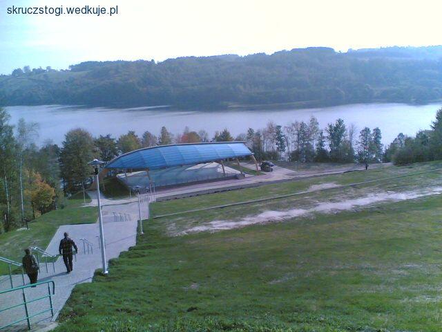 Widok na jezioro Ostrzyckie .