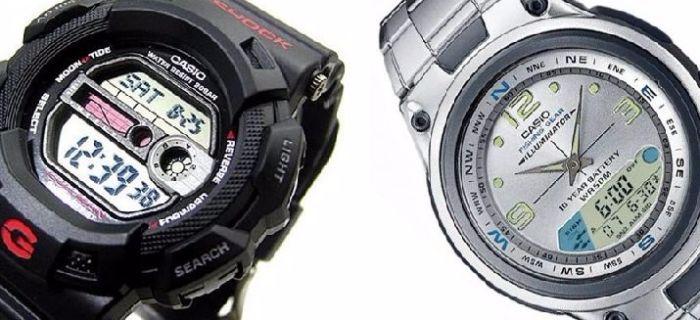 zegarek dla wędkarzy z kalendarzem brań