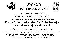 II Tura Bia³obrzeskiej Gut-Ligi Sp³awikowej.