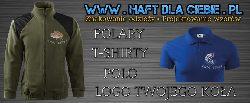 HAFT DLA Ciebie.pl    Sklep z odzie¿± wêdkarsk±.     Polary, t-shirty, polo a tak¿e logo Twojego ko³a ³owieckiego.